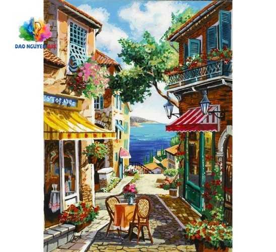 giá vẽ tranh tường quán cafe