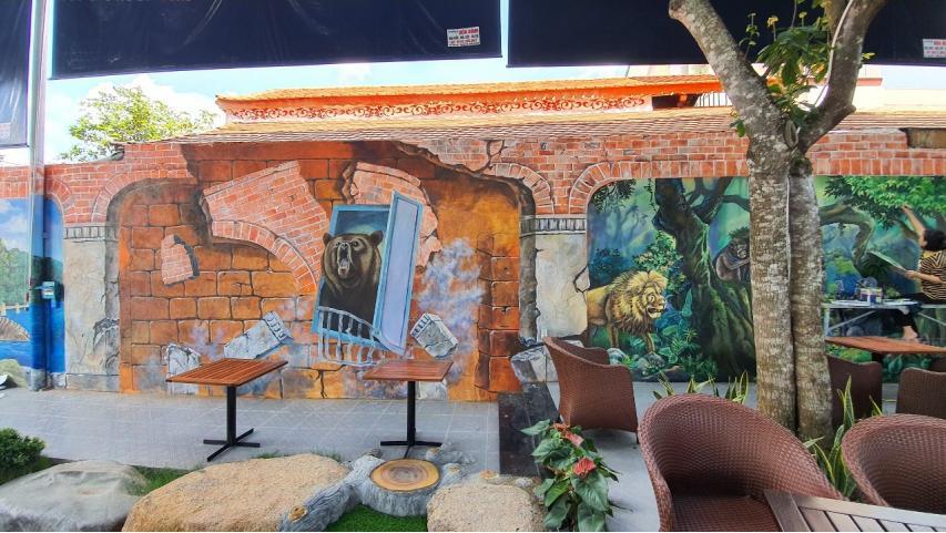 vẽ tranh tường 3d đẹp tại tphcm