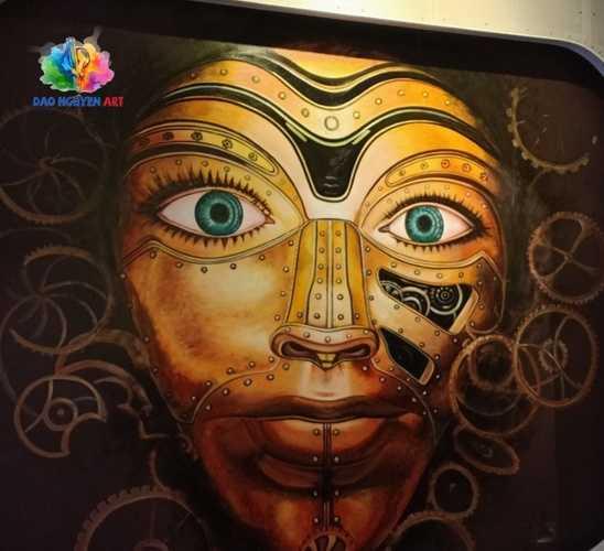 vẽ tranh tường quán café